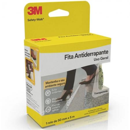 FITA ANTIDERRAPANTE 3M SAFETY-WALK 50MM X 5MTS TRANSPARENTE
