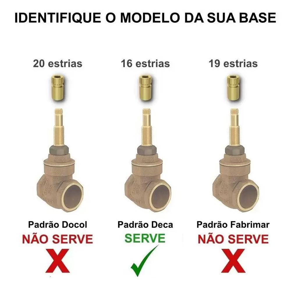 ACABAMENTO PARA REGISTRO DECA C64 DUNA CLASSICA