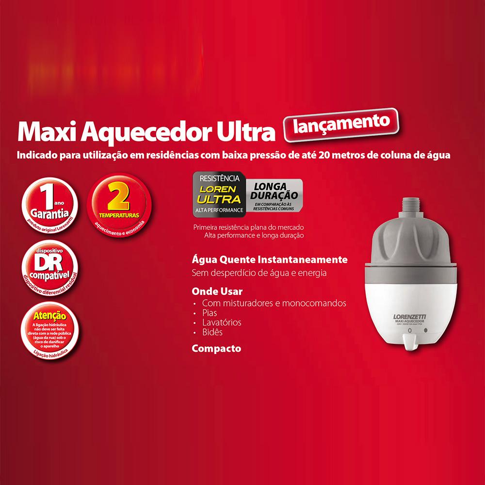 AQUECEDOR MAXI ULTRA LORENZETTI 2 TEMPERATURAS 220V/5500W