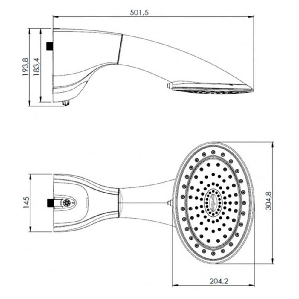 DUCHA HYDRA OPTIMA 220V/7700W ELETRONICA