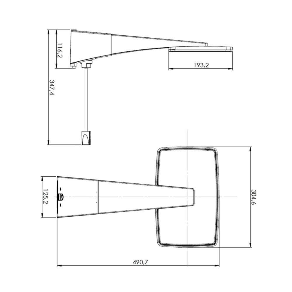 DUCHA HYDRA POLO HYBRID 220V/7700W DIGITAL BRANCA