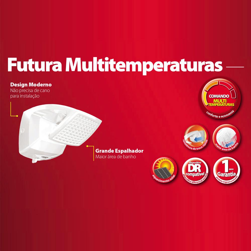 DUCHA LORENZETTI FUTURA 220V/7500W MULTITEMPERATURAS
