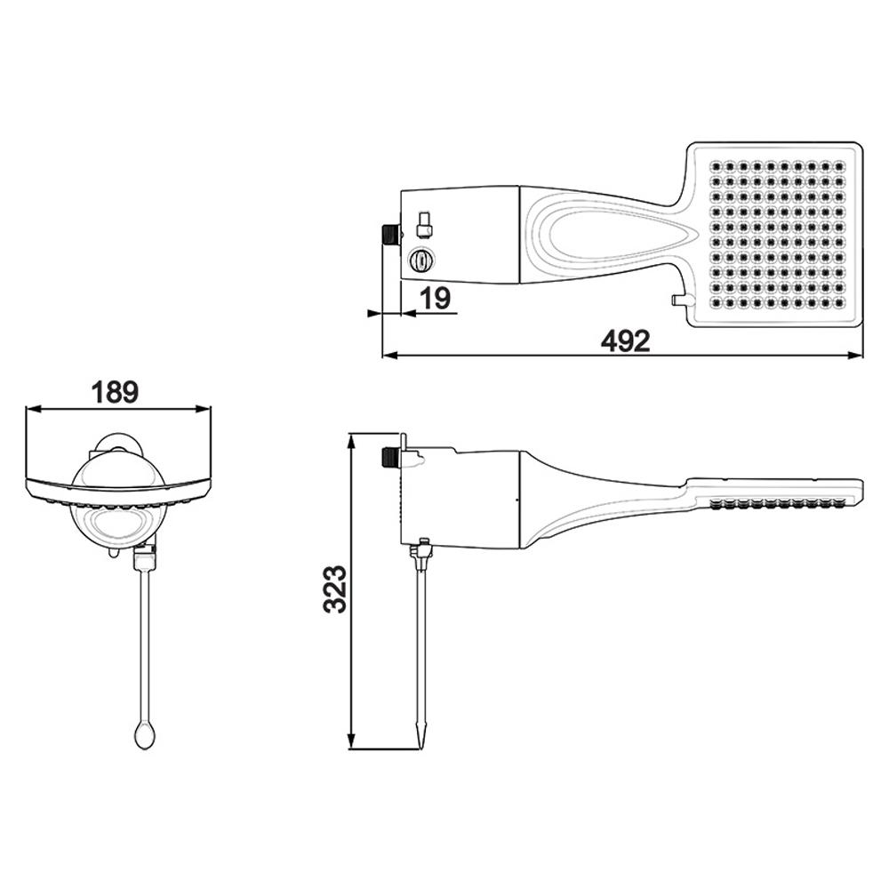 DUCHA LORENZETTI LOREN SHOWER 220V/7500W ELETRONICA