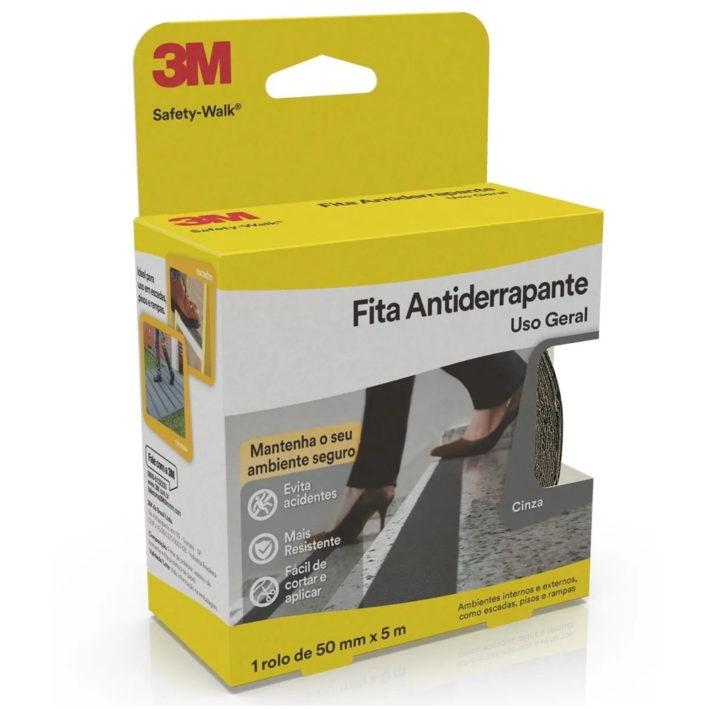 FITA ANTIDERRAPANTE 3M SAFETY-WALK 50MM X 5MTS CINZA