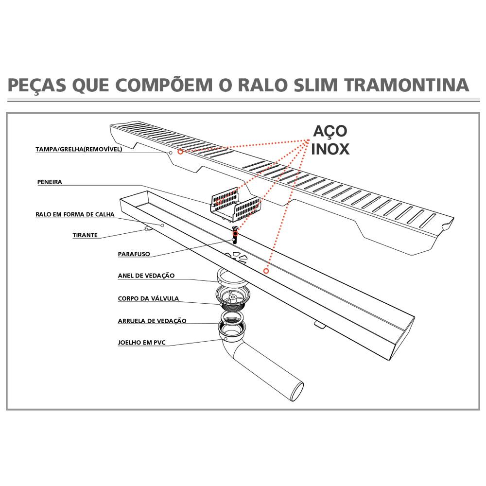 RALO LINEAR SLIM TRAMONTINA INOX 80CM