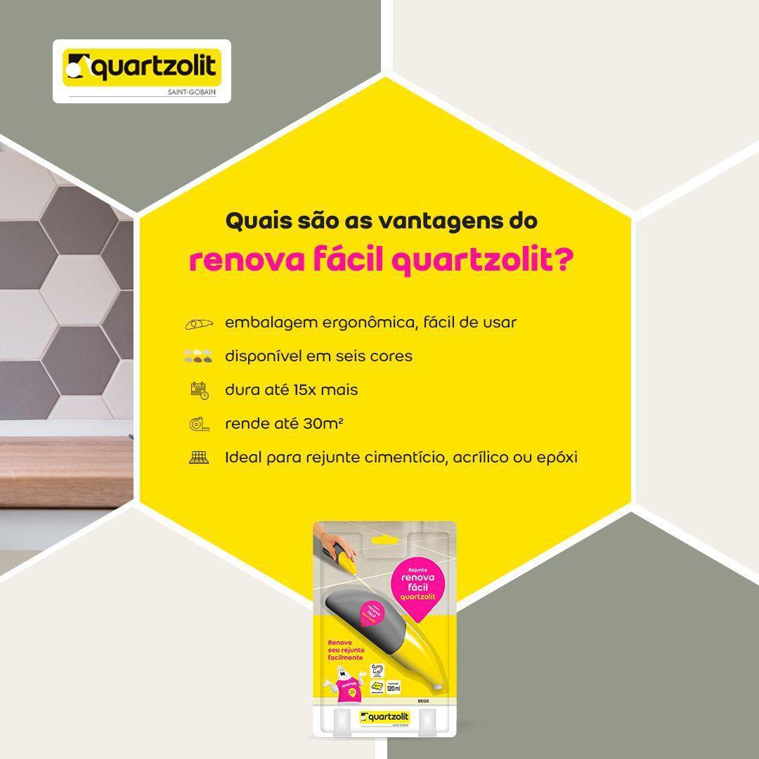 RENOVA FACIL QUARTZOLIT 120ML PRETO GRAFITE