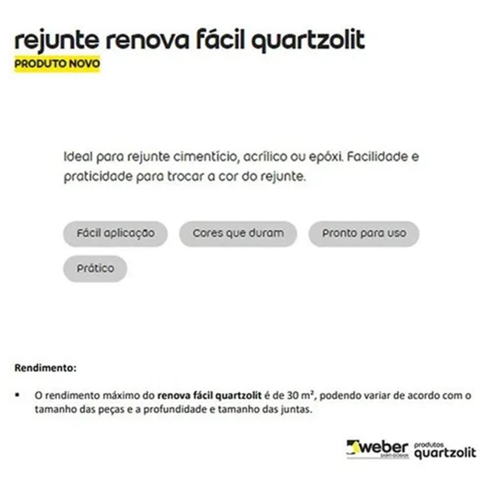 RENOVA FACIL QUARTZOLIT 120ML BRANCO