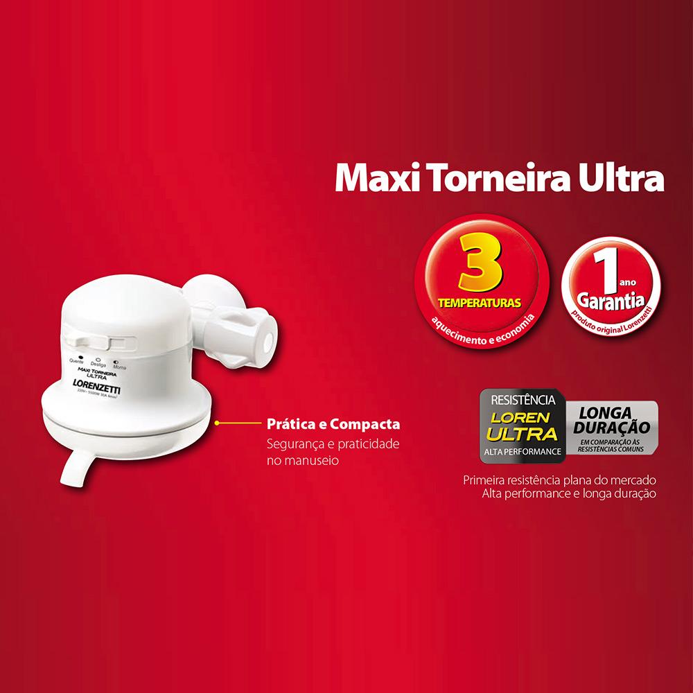 TORNEIRA ELETRICA LORENZETTI MAXI 3 TEMPERATURAS 220V/5500W