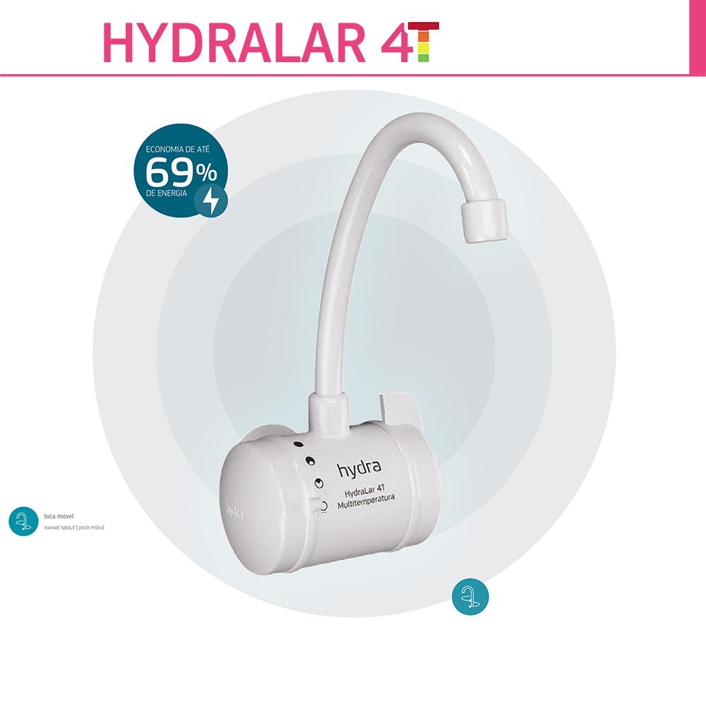 TORNEIRA ELETRICA HYDRALAR 4T 220V/5500W PAREDE