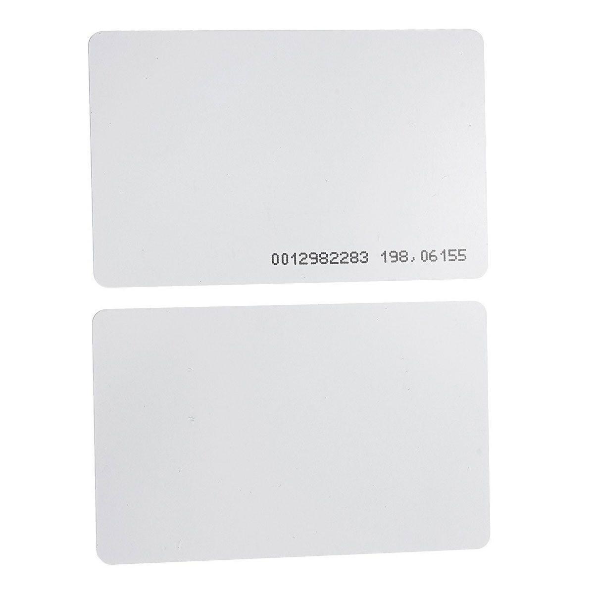 Cartão RFID 125 KHz PVC - 100 unidades