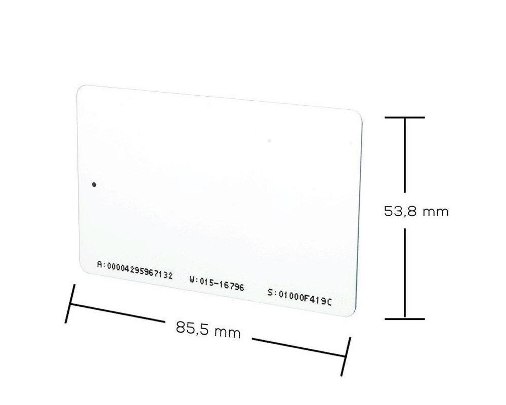 Cartão RFID NEO-ISO ABA TK2 125 KHz - 50 unidades