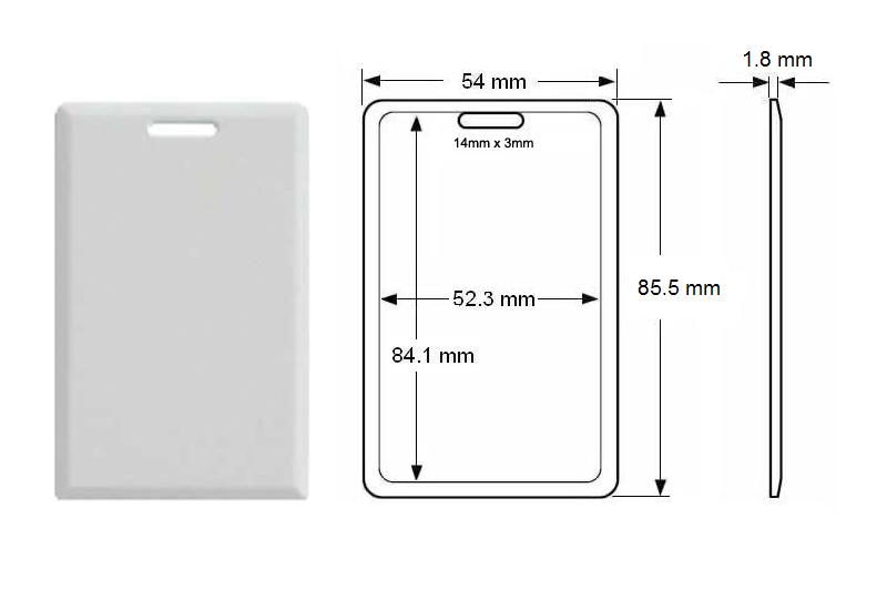 Crachá RFID 125 KHz - 100 unidades