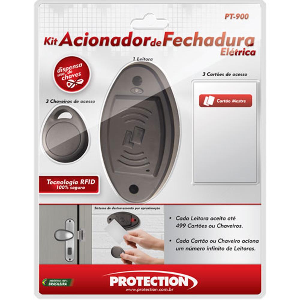 Kit Controle de acesso RFID 125 KHz Protection PT-900