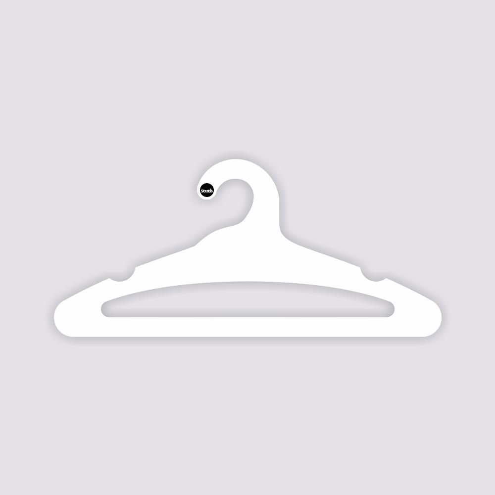 Cabide Ecológico Adulto Aberto -Branco - CS105