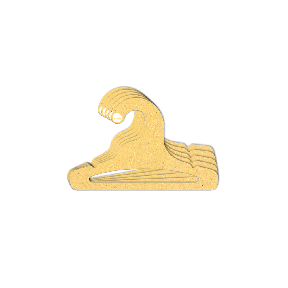 Cabide Ecológico Infantil Aberto  - Amarelo - CS101