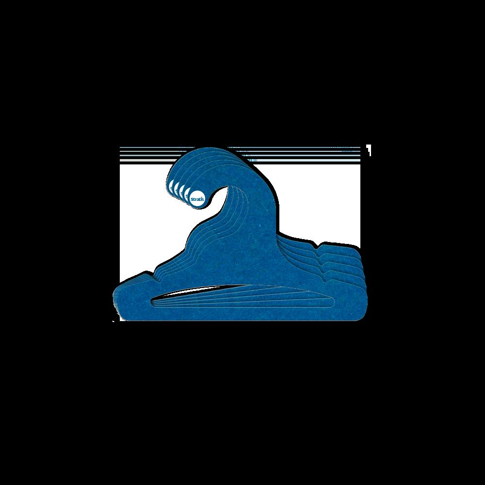 Cabide Ecológico Infantil Aberto - Azul Royal - CS101