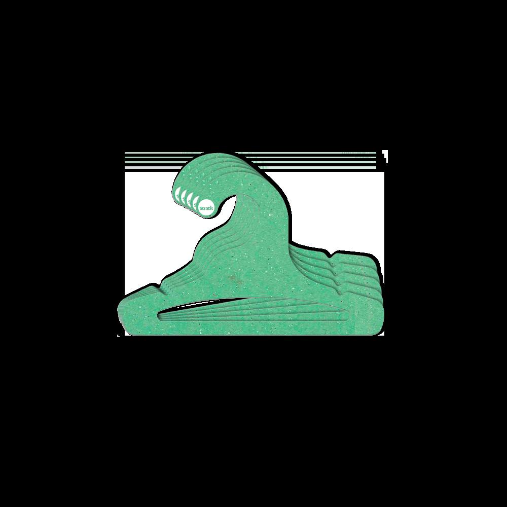 Cabide Ecológico Infantil Aberto  - Verde Claro - CS101