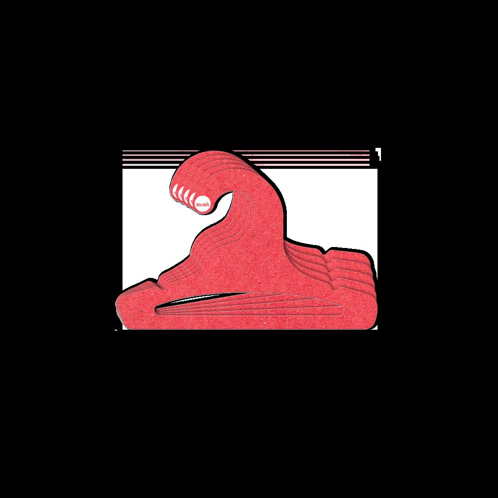 Cabide Ecológico Infantil Aberto  - Vermelho - CS101