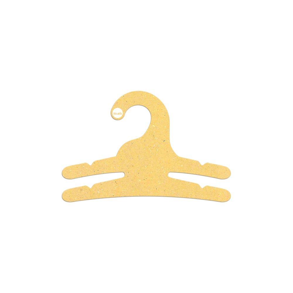 Cabide Ecológico Infantil Multifuncional - 2 Ganchos - Amarelo - CS113