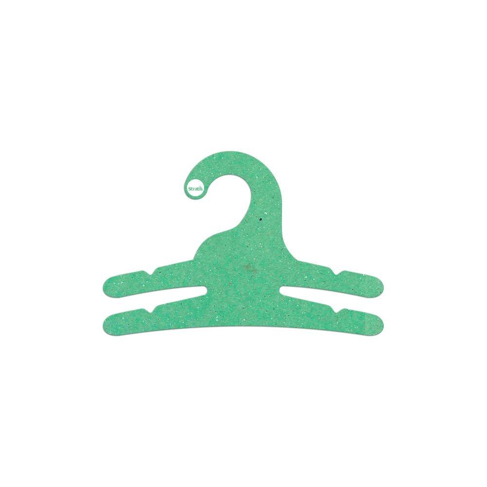 Cabide Ecológico Infantil Multifuncional - 2 Ganchos - Verde Claro - CS113