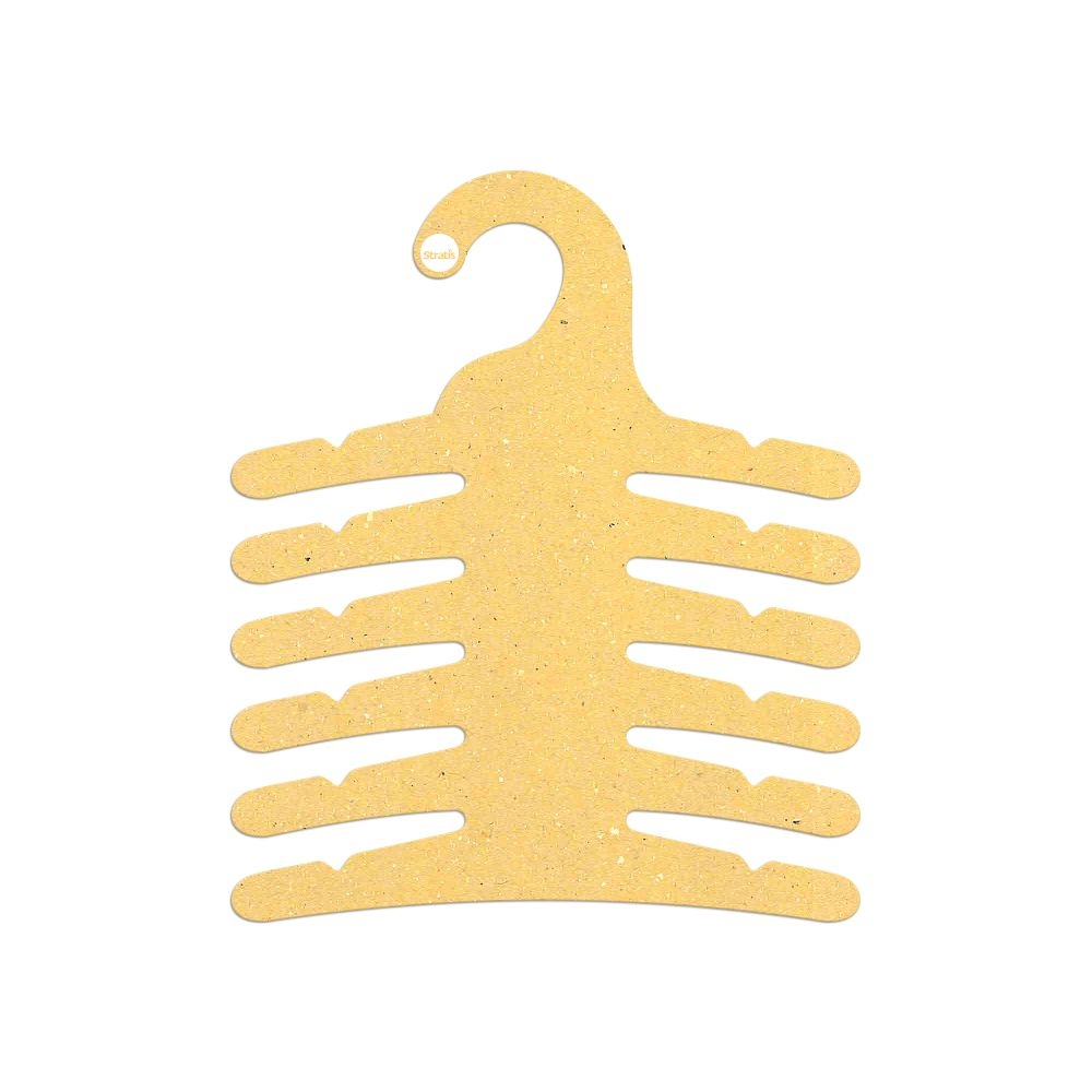 Cabide Ecológico Infantil Multifuncional - 6 Ganchos - Amarelo - CS115
