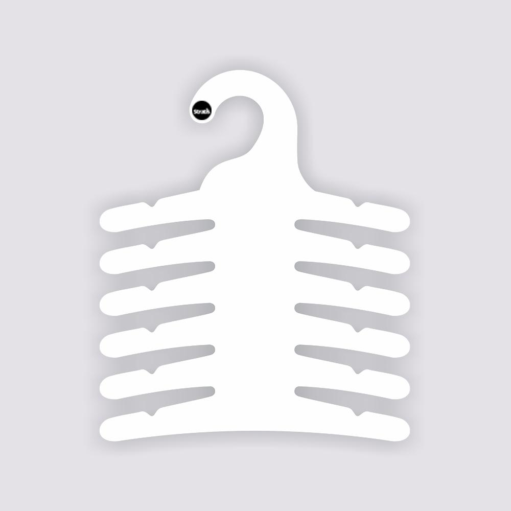 Cabide Ecológico Infantil Multifuncional - 6 Ganchos - Branco - CS115