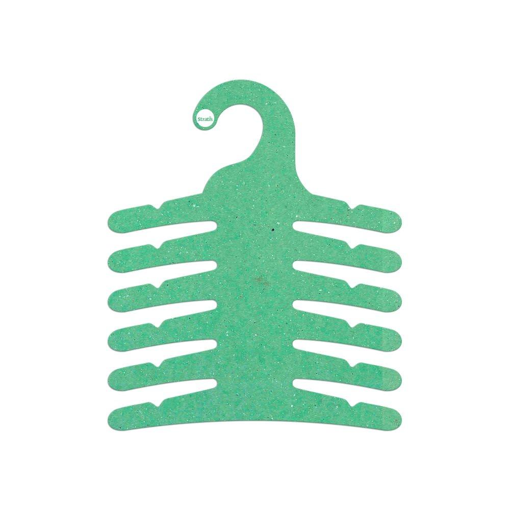 Cabide Ecológico Infantil Multifuncional -6 Ganchos - Verde Claro - CS115
