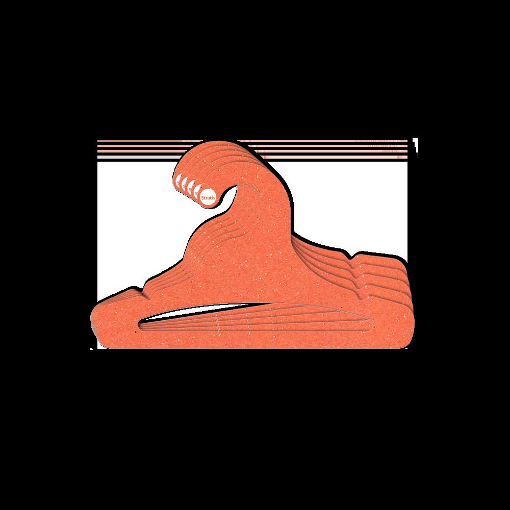 Cabide Ecológico Juvenil  Aberto - Laranja - CS103