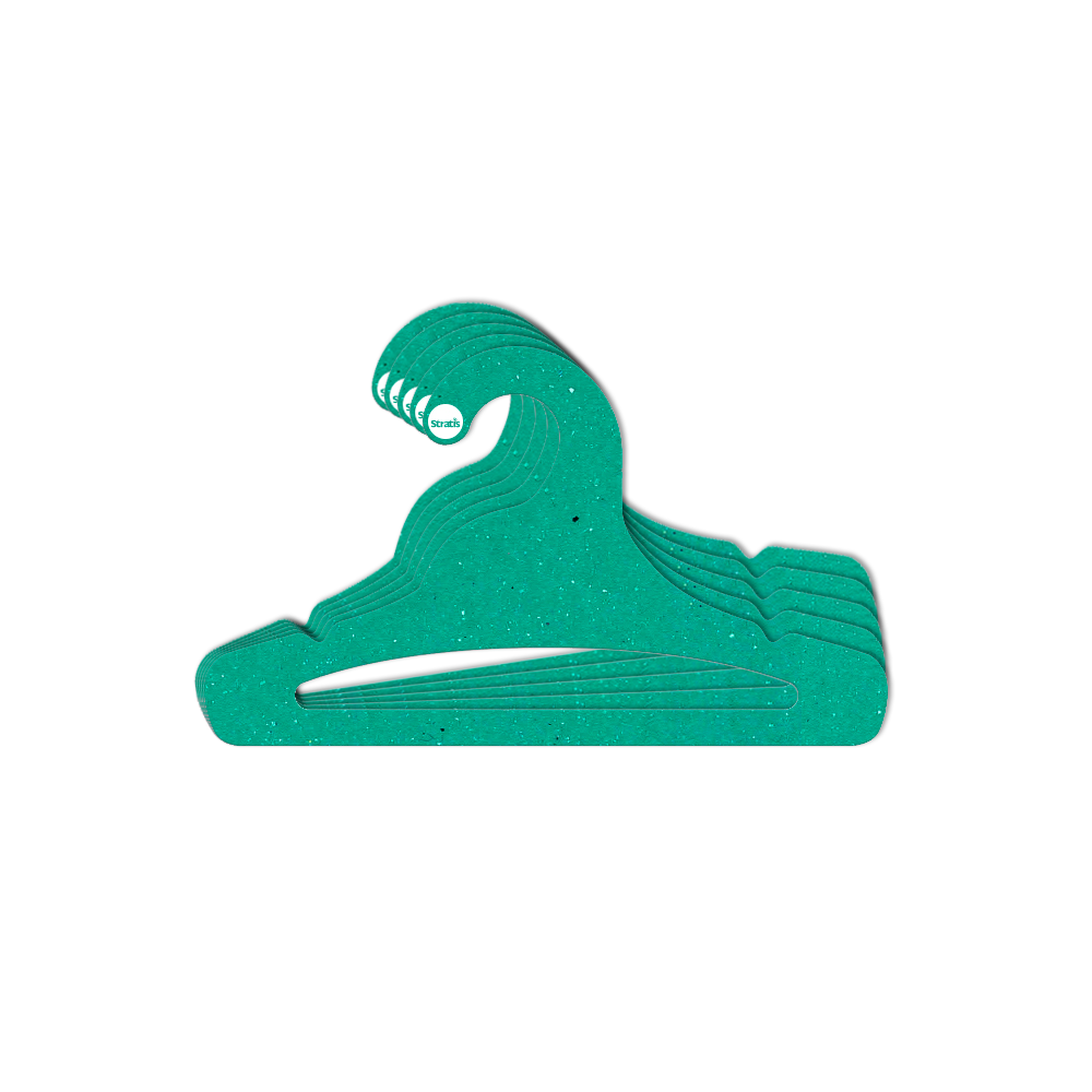 Cabide Ecológico Juvenil Aberto - Verde - CS103