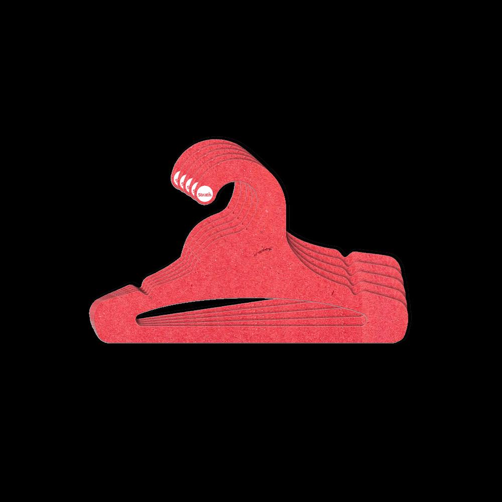 Cabide Ecológico Juvenil Aberto - Vermelho - CS103