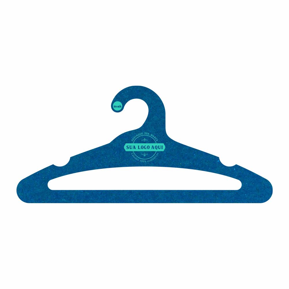 Cabide Ecológico Personalizado com sua Logo - Adulto  Aberto -Azul Royal- CS105