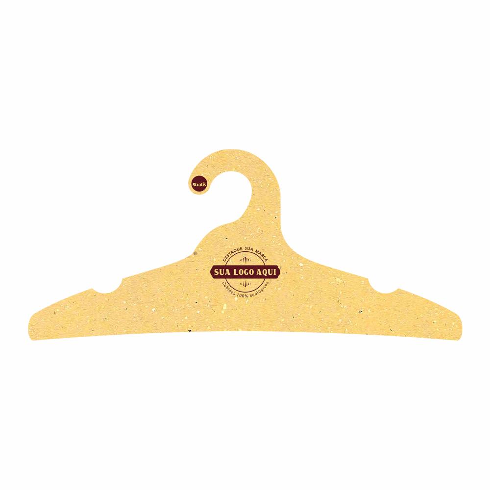 Cabide Ecológico Personalizado com sua Logo -Adulto -Amarelo- CS104