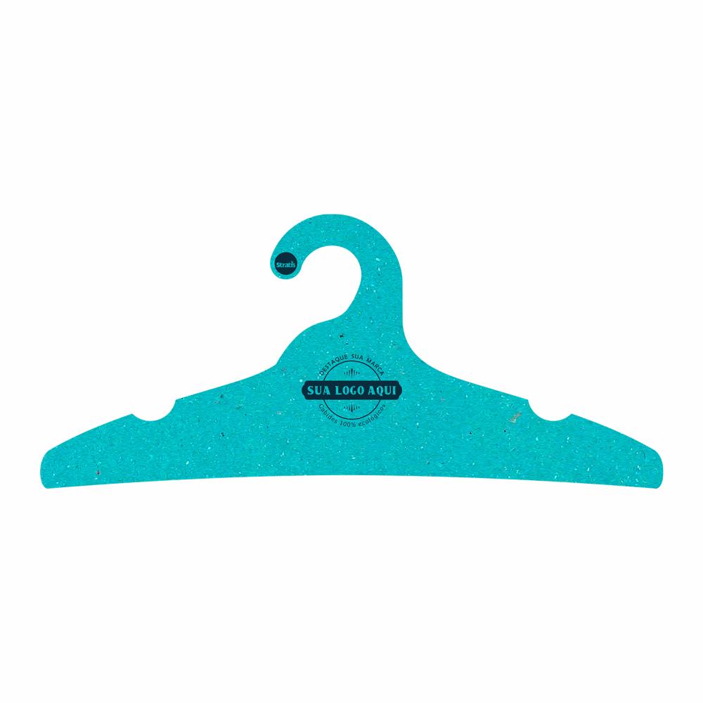 Cabide Ecológico Personalizado com sua Logo -Adulto -Azul Ciano- CS104