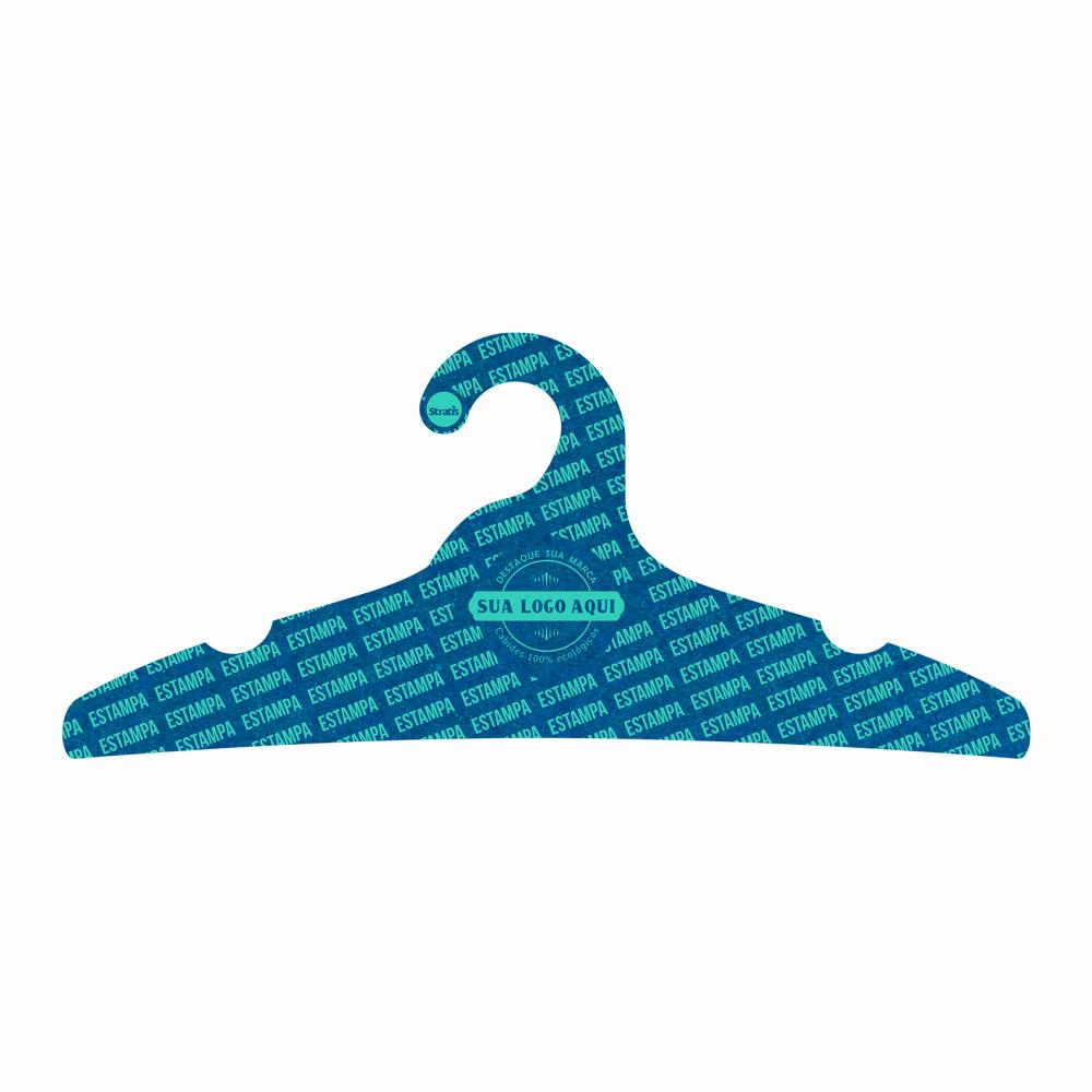 Cabide Ecológico Personalizado com sua Logo  -Adulto -Azul Royal- CS104