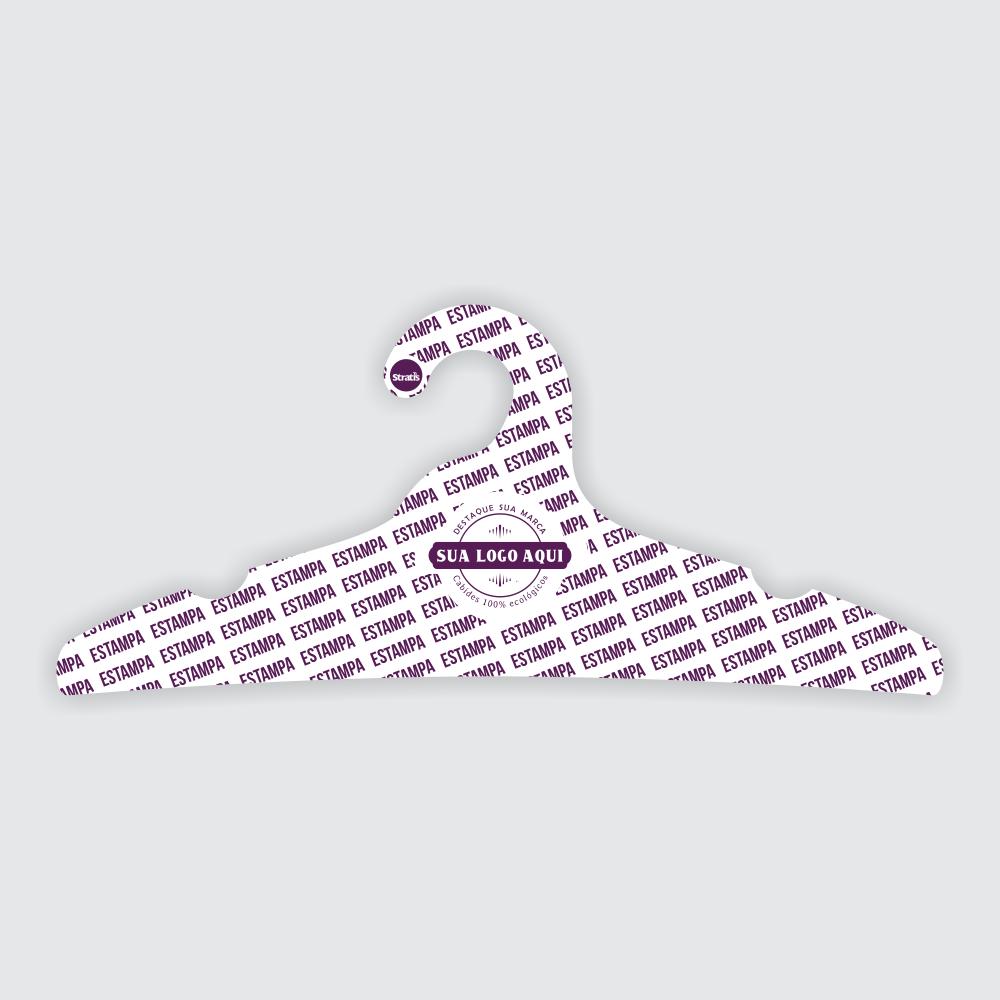 Cabide Ecológico Personalizado com sua Logo - Adulto - Branco - CS104