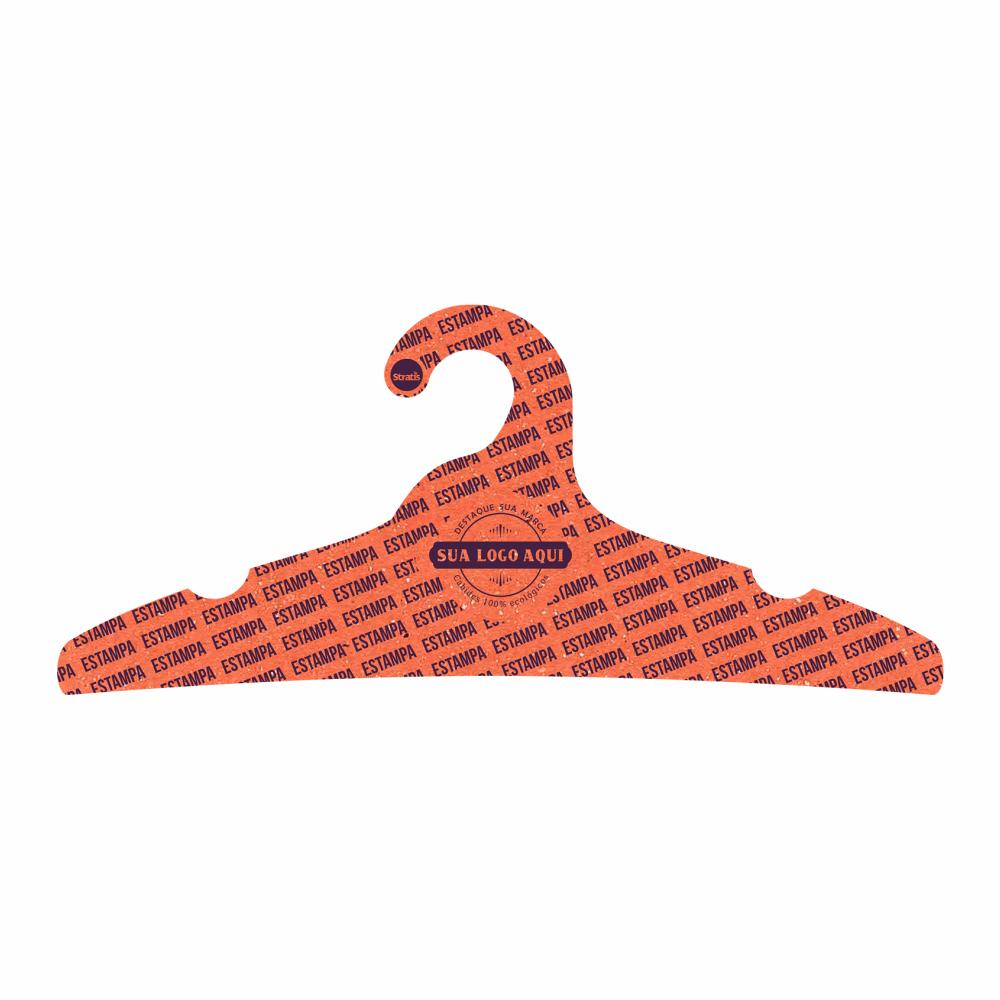 Cabide Ecológico Personalizado com sua Logo - Adulto -Laranja - CS104