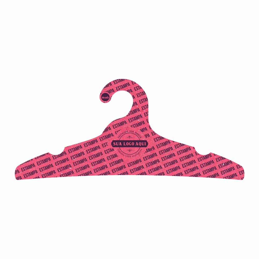 Cabide Ecológico Personalizado com sua Logo -Adulto - Rosa- CS104