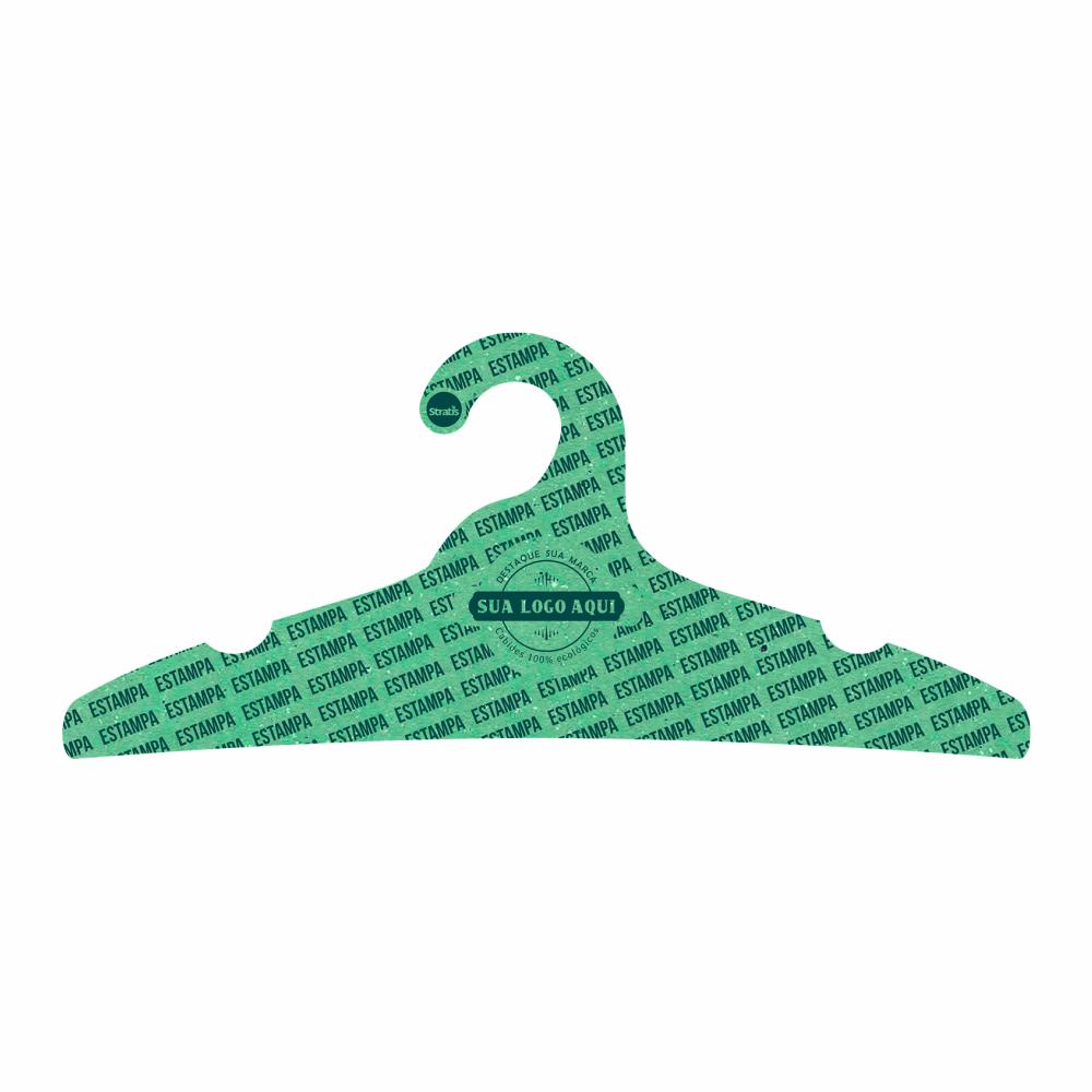Cabide Ecológico Personalizado com sua Logo - Adulto - Verde Claro- CS104