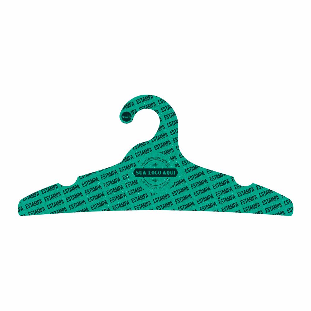 Cabide Ecológico Personalizado com sua Logo - Adulto - Verde - CS104