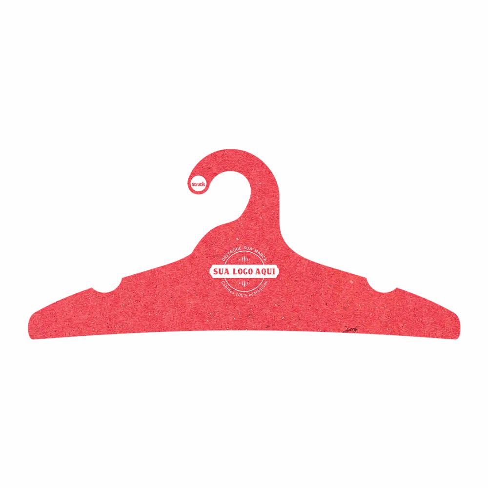 Cabide Ecológico Personalizado com sua Logo -Adulto -Vermelho- CS104