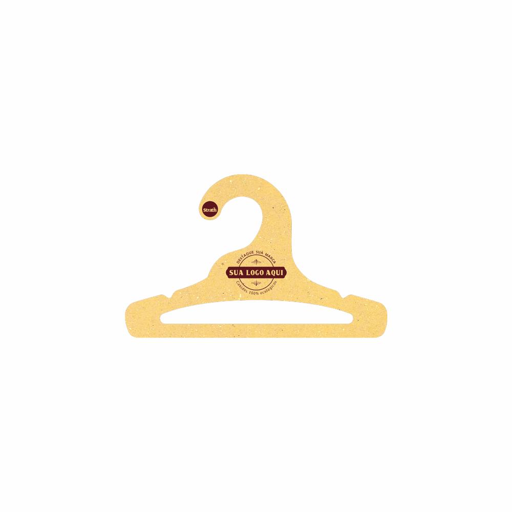 Cabide Ecológico Personalizado com sua Logo - Infantil Aberto -Amarelo- CS101