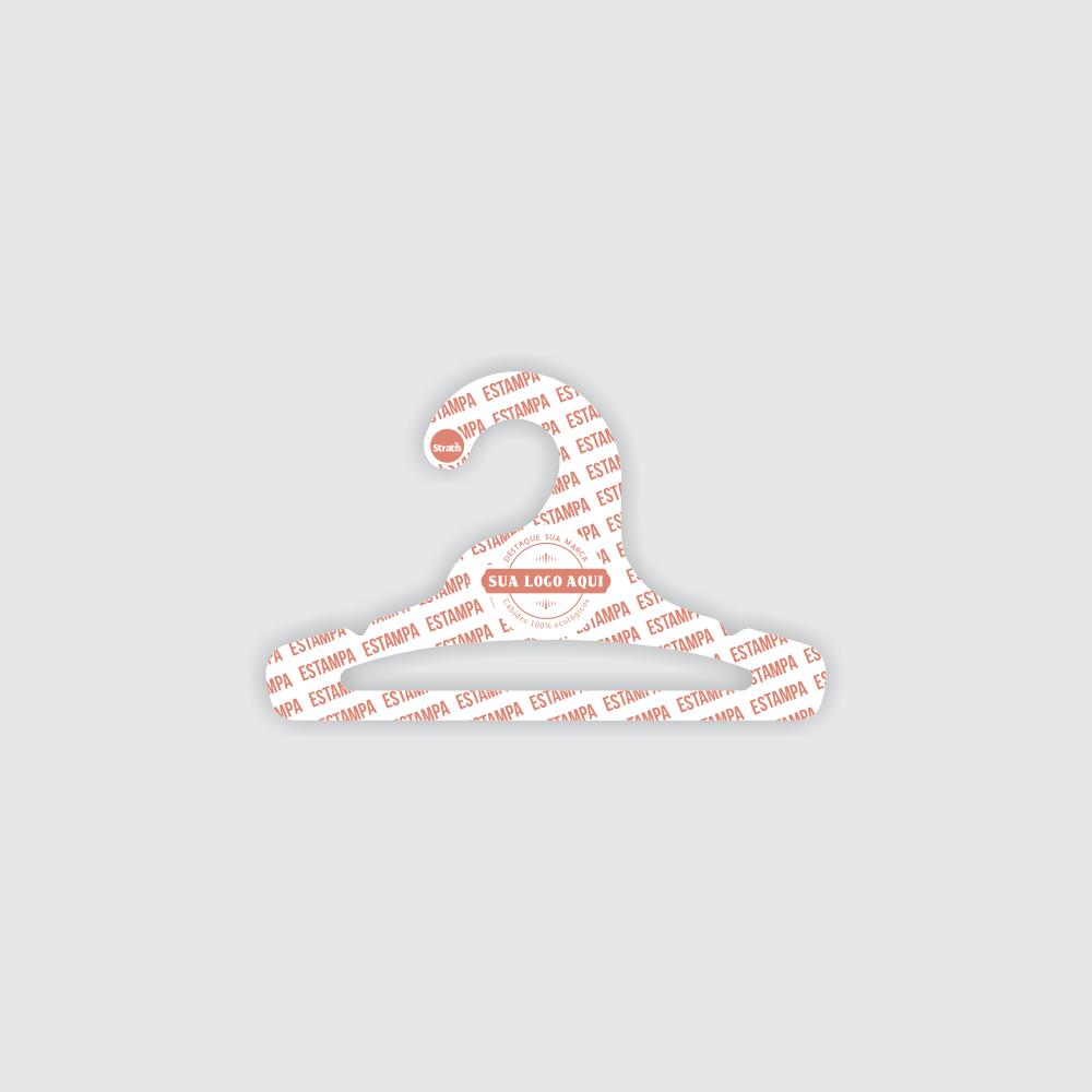 Cabide Ecológico Personalizado com sua Logo - Infantil Aberto - Branco - CS101