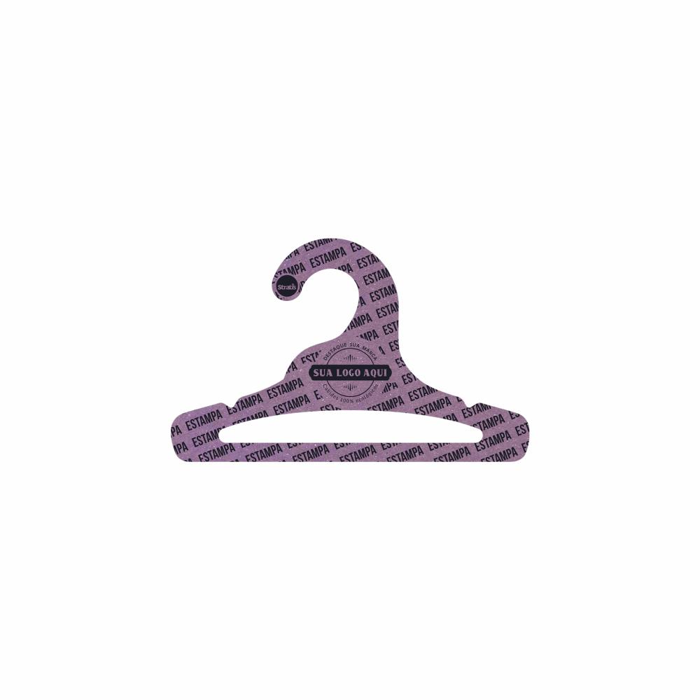 Cabide Ecológico Personalizado com sua Logo - Infantil Aberto - Lilás- CS101