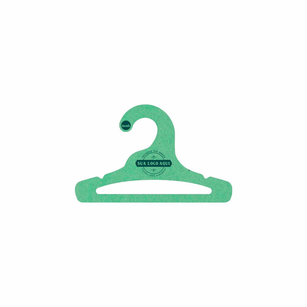 Cabide Ecológico Personalizado com sua Logo - Infantil Aberto - Verde Claro- CS101