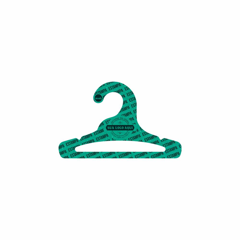 Cabide Ecológico Personalizado com sua Logo - Infantil Aberto - Verde - CS101