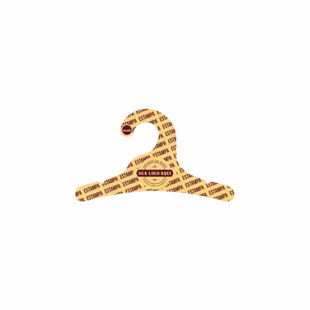 Cabide Ecológico Personalizado com sua Logo - Infantil -Amarelo- CS100