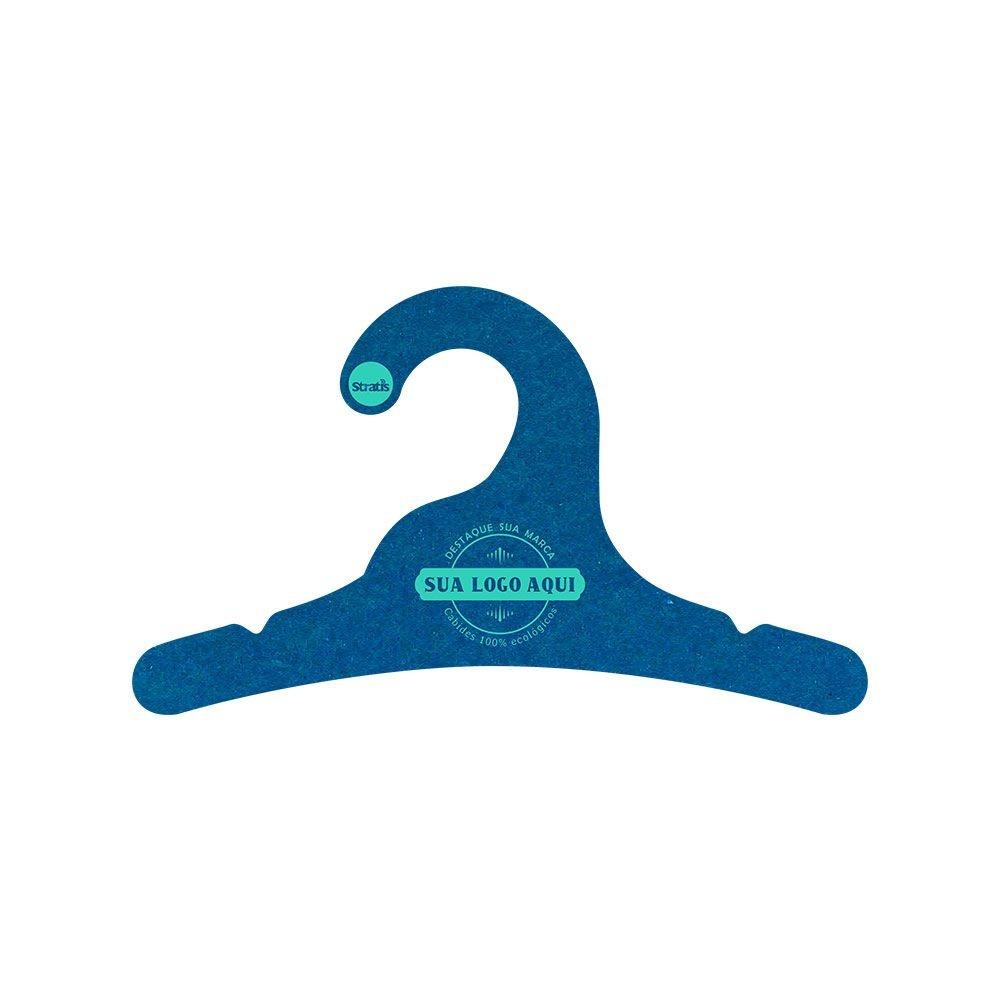 Cabide Ecológico Personalizado com sua Logo - Infantil -Azul Royal- CS100