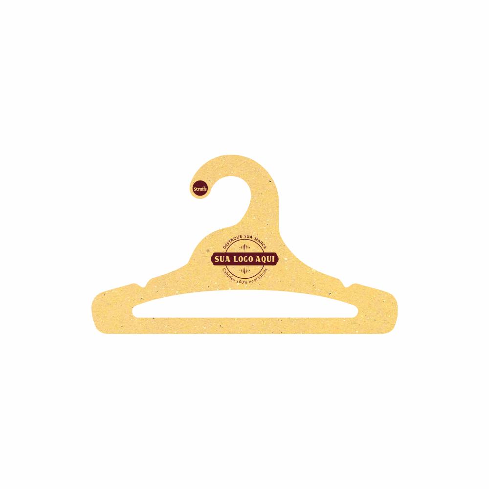 Cabide Ecológico Personalizado com sua Logo - Juvenil Aberto  -Amarelo- CS103
