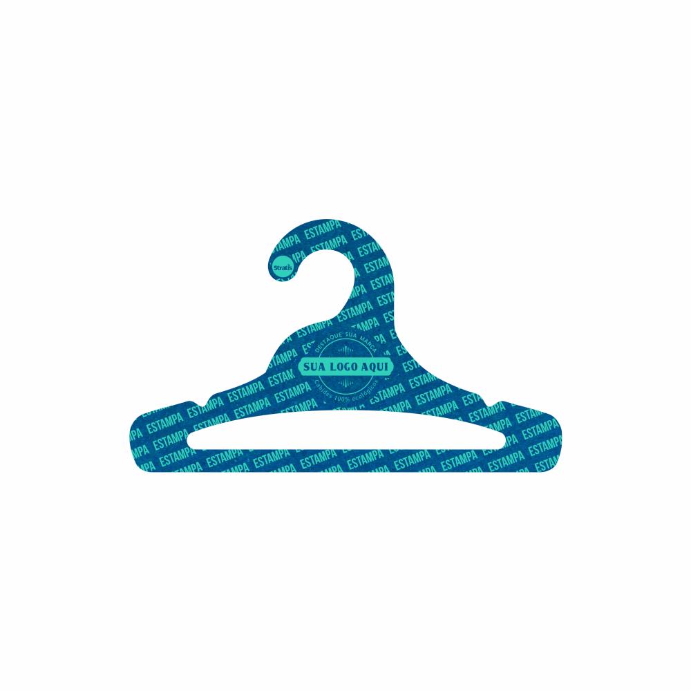Cabide Ecológico Personalizado com sua Logo - Juvenil Aberto -Azul Royal- CS103