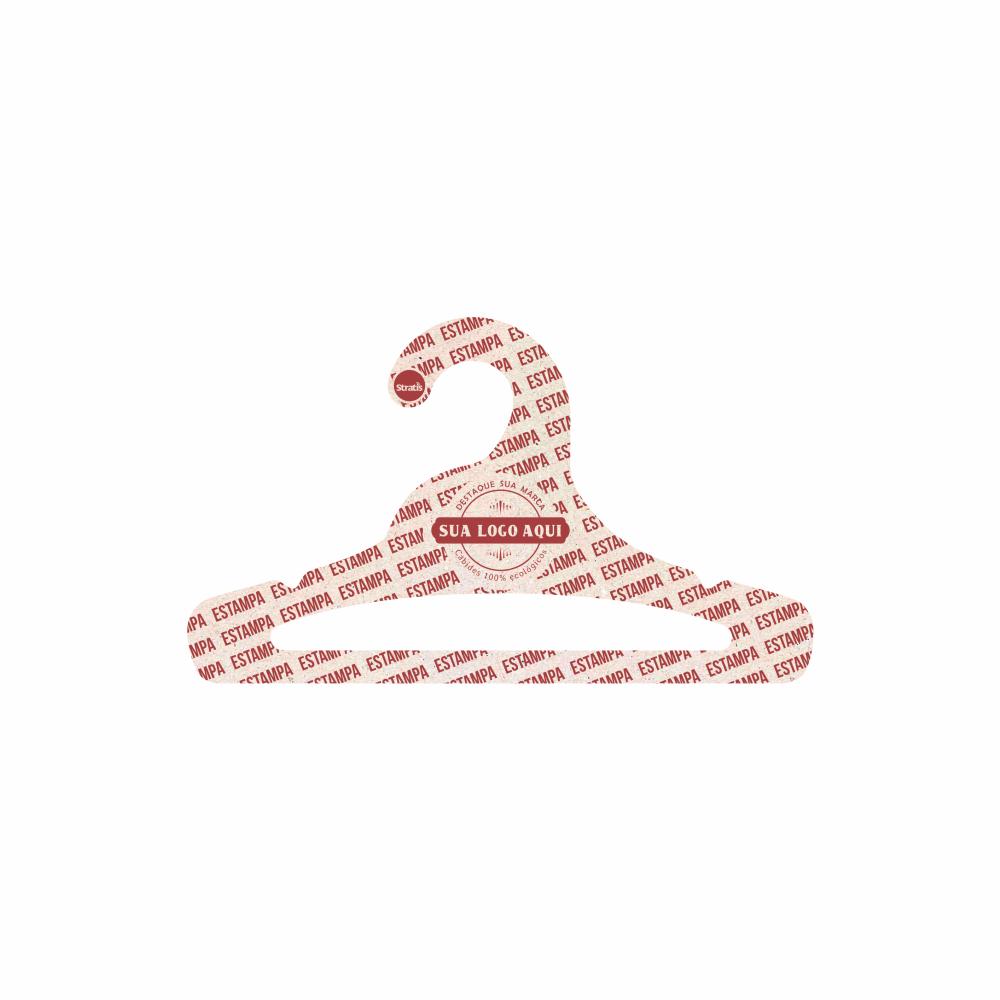 Cabide Ecológico Personalizado com sua Logo - Juvenil Aberto - CS103
